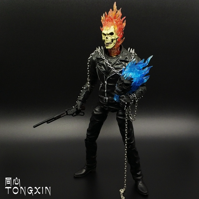 9 inch evil Ghost Rider skull motorcycle chariotsmodel X-men movable toy MARVEL Action Figure
