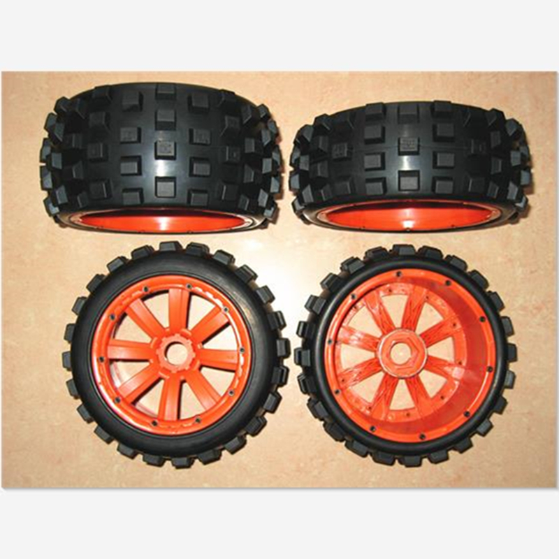 1/5 Buggy Cross country Wheels 4 Set Tires Fit HPI Rovan km Baja 5B SS 2.0 buggy sand paddle wheels fits hpi baja 5b ss 2 0