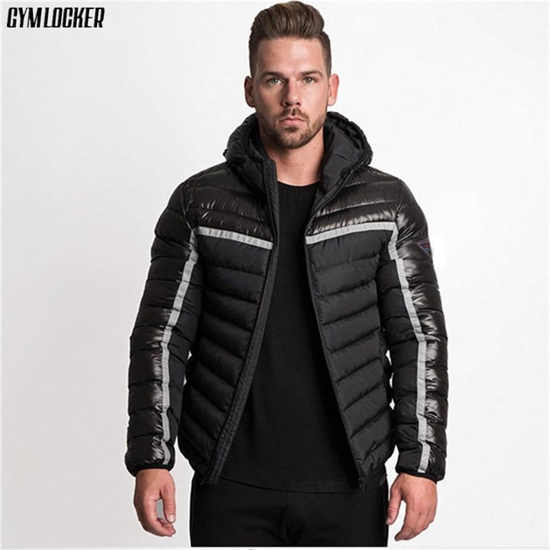 GYMLOCKER Cotton coat mens Casual hoodie   parkas   2018 winter new clothes male tops Zipper hoodie   parkas   men fashion Sportswear