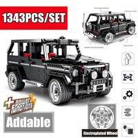 New G Class Technic Series SUV G500 Off road AWD Vehicles car fit technic car model building blocks bricks toy kid gift