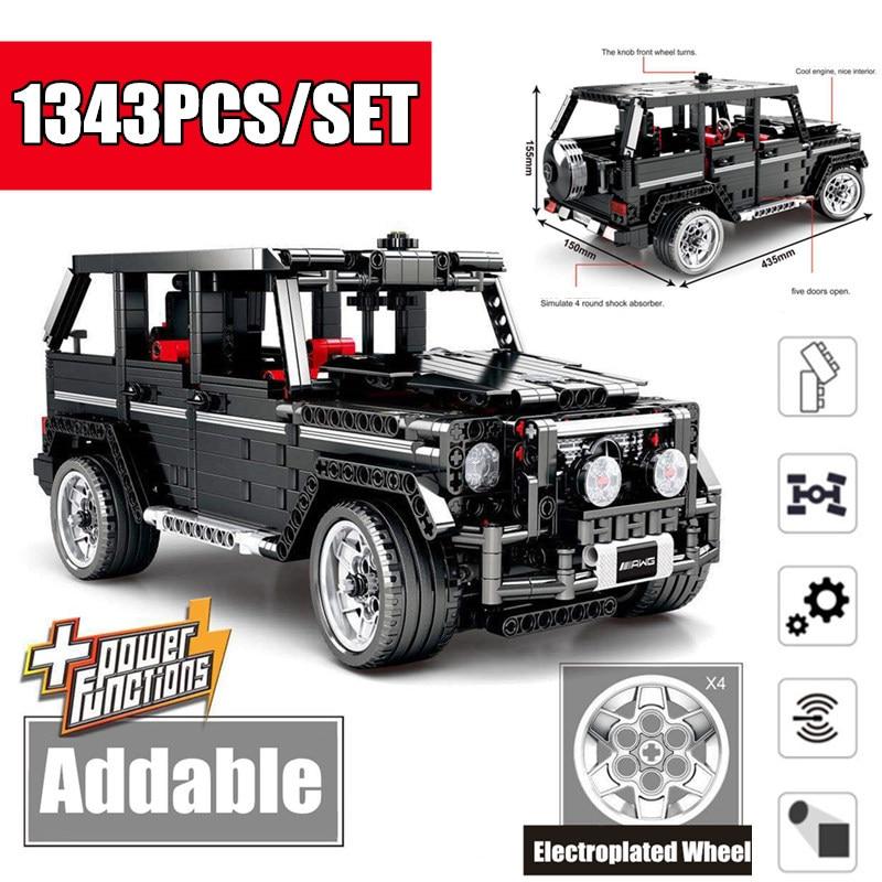 Nouveau g-class Technic série SUV G500 hors route AWD véhicules voiture fit technique voiture modèle blocs de construction briques jouet enfant cadeau
