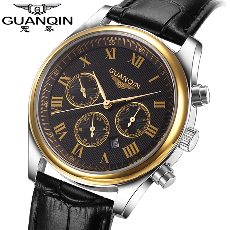 GUANQIN Quartz Male Role Watches Men 2016 Top Brand Luxury Ko Marque De Luxe Dbvwzl Ar Japon nomo Coste Adventure Time Vintage japon