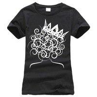 Gildan En Kaliteli T Shirt O Boyun O-Boyun Kadın Doğal Saç Kıvırcık Kraliçe Küresel Couture Kısa Kollu Moda T Shirt