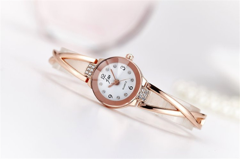 New Fashion Rhinestone Watches Women Luxury Brand Stainless Steel Bracelet watches Ladies Quartz Dress Watches reloj mujer Clock 27