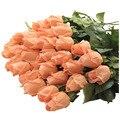11 шт. Свежие розы Искусственные Цветы украшения Дома для Свадьбы 45 см глубокий Шампанского
