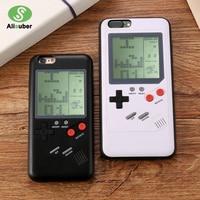 Alisuber Dla Nintendo Gameboy Retro Tetris Gry Przypadku Telefonu dla iPhone 6 6 s Silikon Konsoli Pokrywa Phone Case dla iphone 7 8 plus