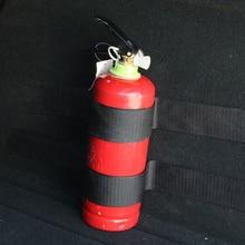 4 unids/set extintor de incendios cinturones de maletero de coche bolsa de almacenamiento cintas mágicas vendaje de fijación pegatinas de soporte correas de sujeción estilo de coche