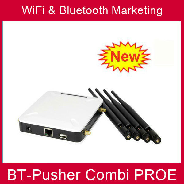 Location based bluetooth advertising equipment and wifi Free proximity marketing machine BT-Pusher COMBI PROE with car charger