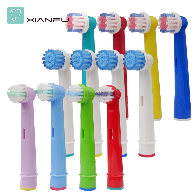 12pcs electric toothbrush Replacement Brush Heads For Braun Oral B Soft Bristle,Vitality Dual Clean/Professional Care SmartSerie electric tooth brush heads replacement for braun oral b soft bristle vitality dual clean professional care deep clean