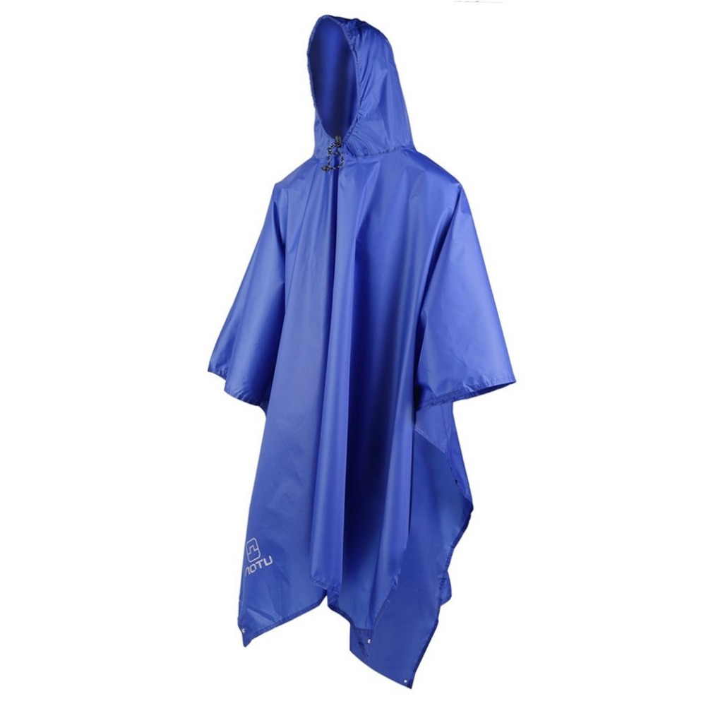 3 In 1 Waterproof Raincoat Outdoor Travel Rain Poncho Jackets Backpack Rain Cover With Carry Bag