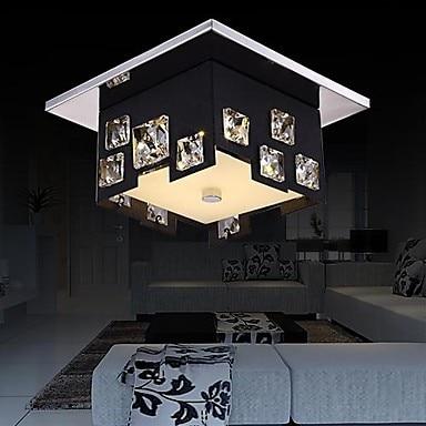 Simple Modern LED Crystal Ceiling Light Lamp For Living Room Bedroom Lustre De Cristal modern k9 crystal led ceiling lamp for living room bedroom bulb included home decoration lustre de cristal ac 90v 260v