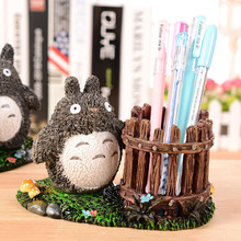 My Neighbor Figurine Ornaments Totoro Figurine StatueJewelry Stationery Storage Pencil Holder Racks The Desktop Decor Crafts