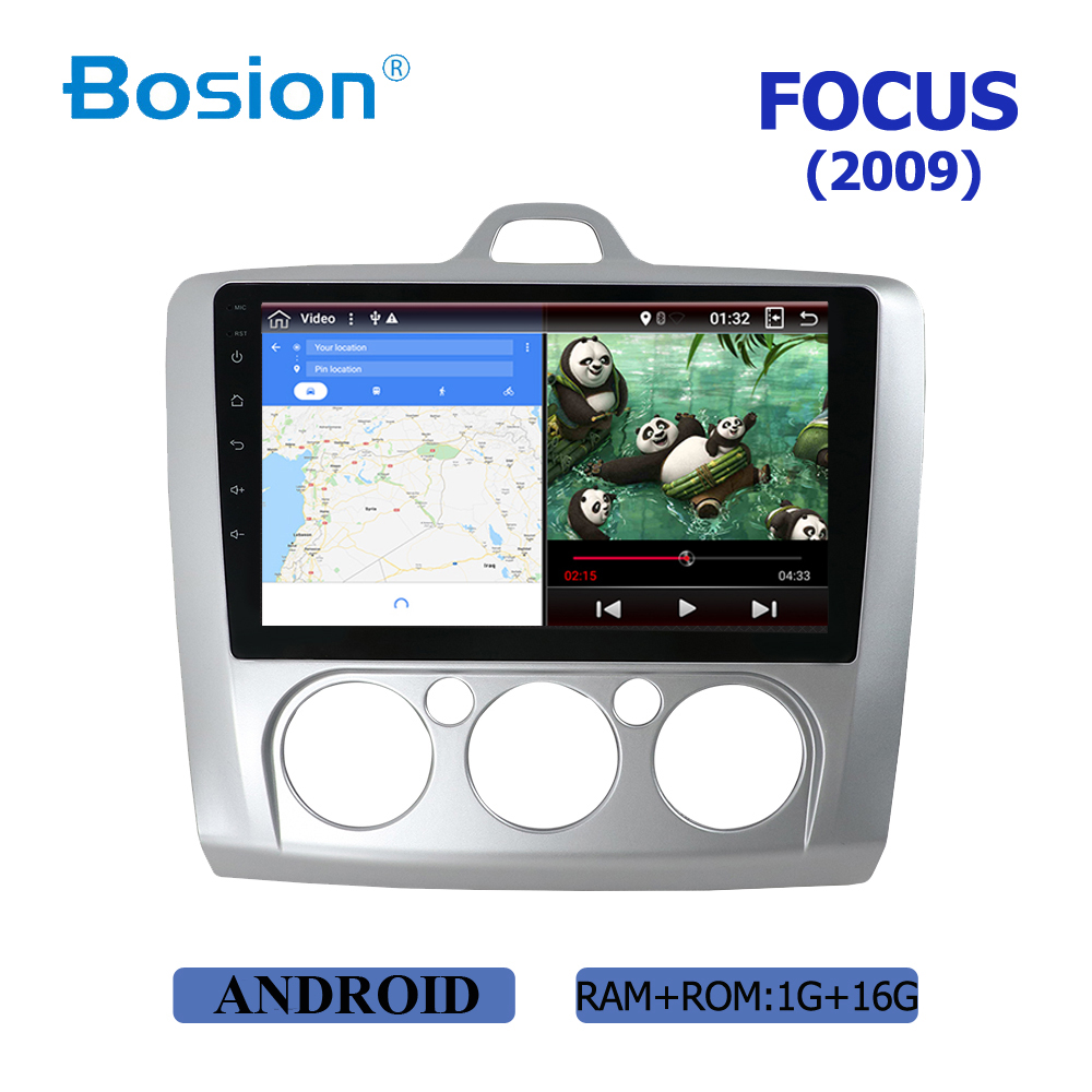 2 din 9 Android 8 9 car dvd Multimedia for Ford Focus 2009 gps navigation wifi