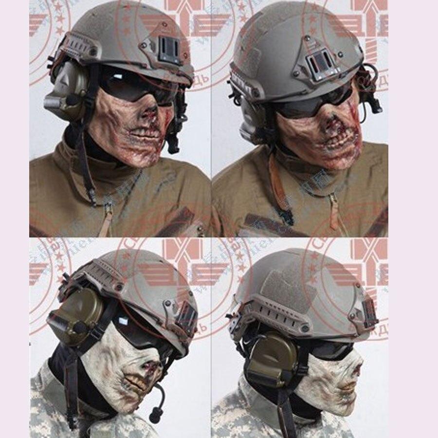 CS Cosplay Horror Skull Zombie Airsoft Mask Plastic Half Face Paintball Hunting Mask Hallowmas Horrible Masks