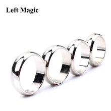 Серебряный изогнутый PK кольцо фокусы сильное магнитное кольцо PK кольцо Нью-Йорк(18/19 мм/20 мм/22 мм доступны магический реквизит закрыть Стадия Волшебные