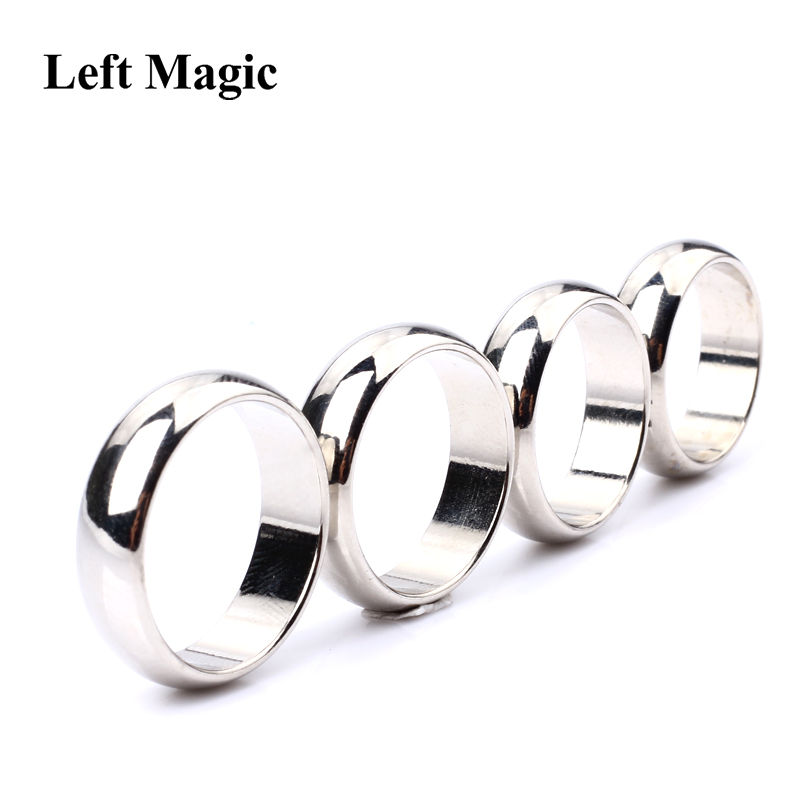 Silver Cambered PK Ring Magic Tricks Strong Magnetic Ring PK Ring ( 18/19/20/22mm Available ) Magic Props Close Up Stage Magic