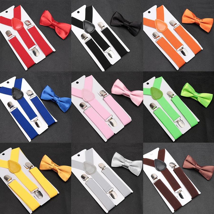 Kids Suspenders with Bowtie Fashion Children Bow Tie Set Boys Braces Girls Adjustable Suspenders Baby Wedding Ties Accessories|Men