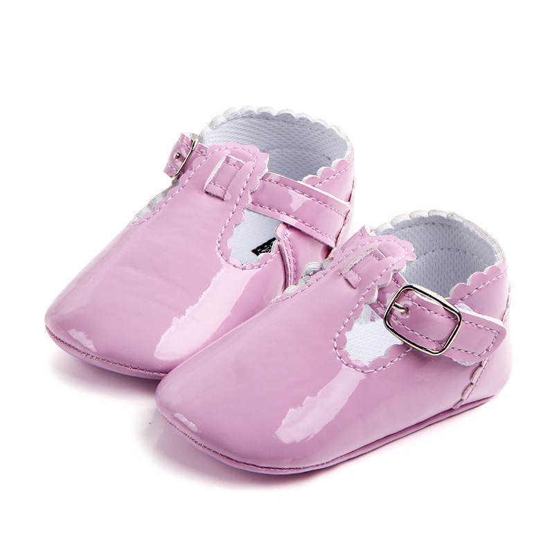4Colors Infant Baby Toddler Shoes Solid Color Soft Cozy Girls Crib Shoes new