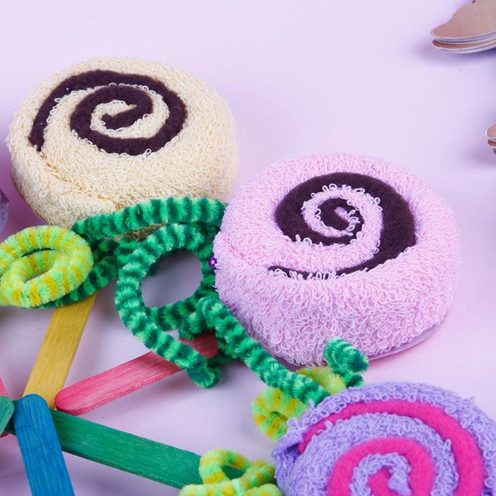 2 Pcs Baby Shower Decoration Lollipop Washcloth Bridal Wedding Party