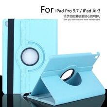 Para iPad Pro 9.7 pulgadas 360 Grados de Rotación Litchi PU caso de La Cubierta de Cuero Para ipad Air3/iPad 7 de Protección caso