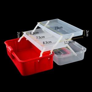 Image 4 - El düzenlenen Masaüstü Nail Art Boş saklama kutusu Plastik Makas Makyaj Organizatör Takı Oje Konteyner Manikür Alet Çantası