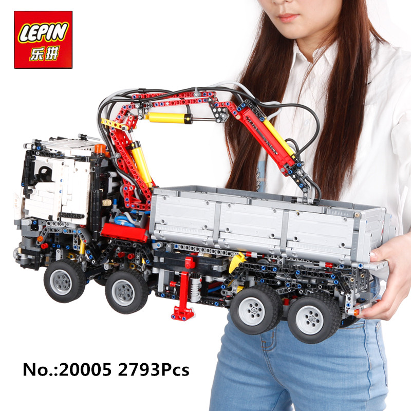In-Stock LEPIN 20005 2793pcs NEW series 42023 Arocs Model Building Block Bricks Compatible with Boys Toy Educational Gift 05007 lepin 20005 2793pcs technic series model building block bricks compatible with boys toy gift compatible legoed 42023