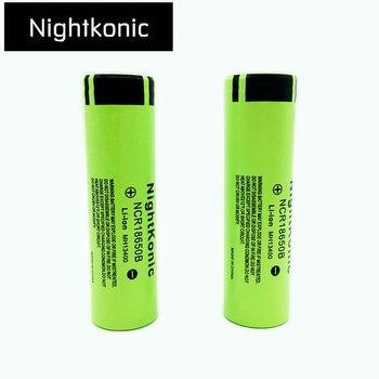Nightkonic 3.7 v 18650 배터리 리튬 이온 충전식 배터리 18650b 손전등 powerbank