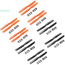 New ABS 8 Pairs Orange Black 6030 CW/CCW Prop Propellers For Mini RC Multicopter Quadcopter With Nylon Pads 66