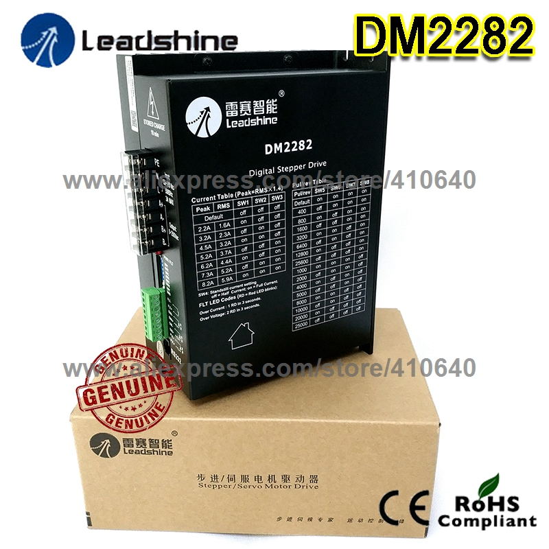 Digital Stepper Drive Leadshine DM2282 High Performance 2-Phase with 80 to 230 VAC Input Voltage and Max 8.2A Output Current new leadshine dm2282 cnc high voltage digital stepper drive 2 phase working 80 220vac 0 52 8 2a push output nema34 and nema