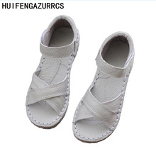 New 2016,Genuine Leather Sandals,pure handmade white shoes,the retro art mori girl Flats shoes,fashion Casual shoes,3 colors