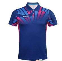 Nowe TIBHAR tenis stołowy koszulki dla mężczyzn kobiet ping pong tkanina Sportswear szkolenia koszulki grupy zakup oddychające koszule tanie tanio Unisex Pasuje do rozmiaru Weź swój normalny rozmiar 01801A