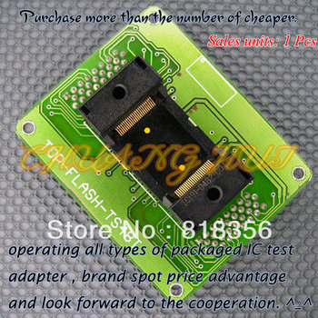 TOP-FLASH-TS48BT Programmer Adapter TSOP48 IC Test Socket  Pitch:0.5mm program test new tsop48 on line test socket smd welding tsop48 tsop48 ic socket adapter pitch 0 5mm