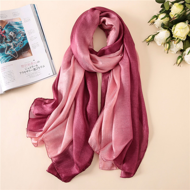 2019 big size summer   scarf   for women soft pashmina lady silk   scarves   shawls and   wraps   beach stoles hijabs headband