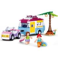 Sluban Model Toy Compatible With Lego B0606 272pcs Girl Camper Model Building Kits Toys Hobbies Building