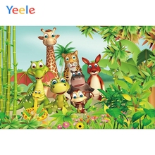 цены на Yeele Vinyl Safari Animals Forest Children Birthday Party Photography Background Baby Child Photographic Backdrop Photo Studio  в интернет-магазинах
