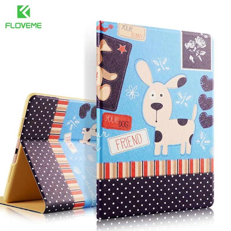 FLOVEME Color Print Flip Leather Cases For iPad mini 1 2 3 4 iPad air 1