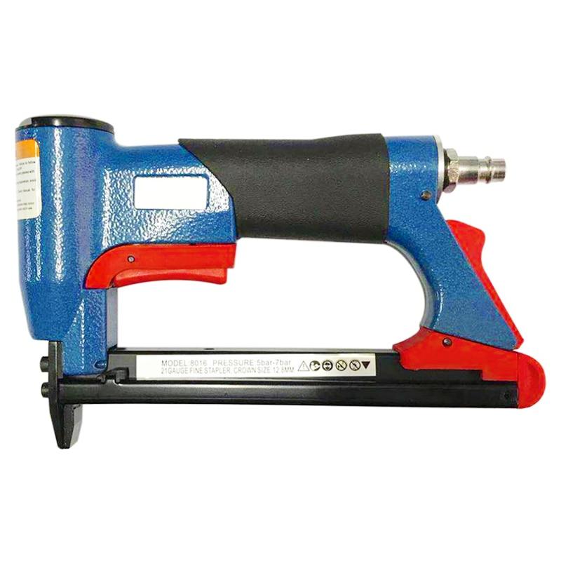 1/2 Inch Pneumatic Air Stapler Nailer Fine Stapler Tool For Furniture Blue Nailer Tool 4 16Mm Woodworking Pneumatic Air Power|Nail Guns| |  -