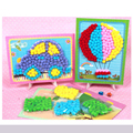 Children's creative hand-stuffed ball mosaic art stickers sticker early childhood educational toys