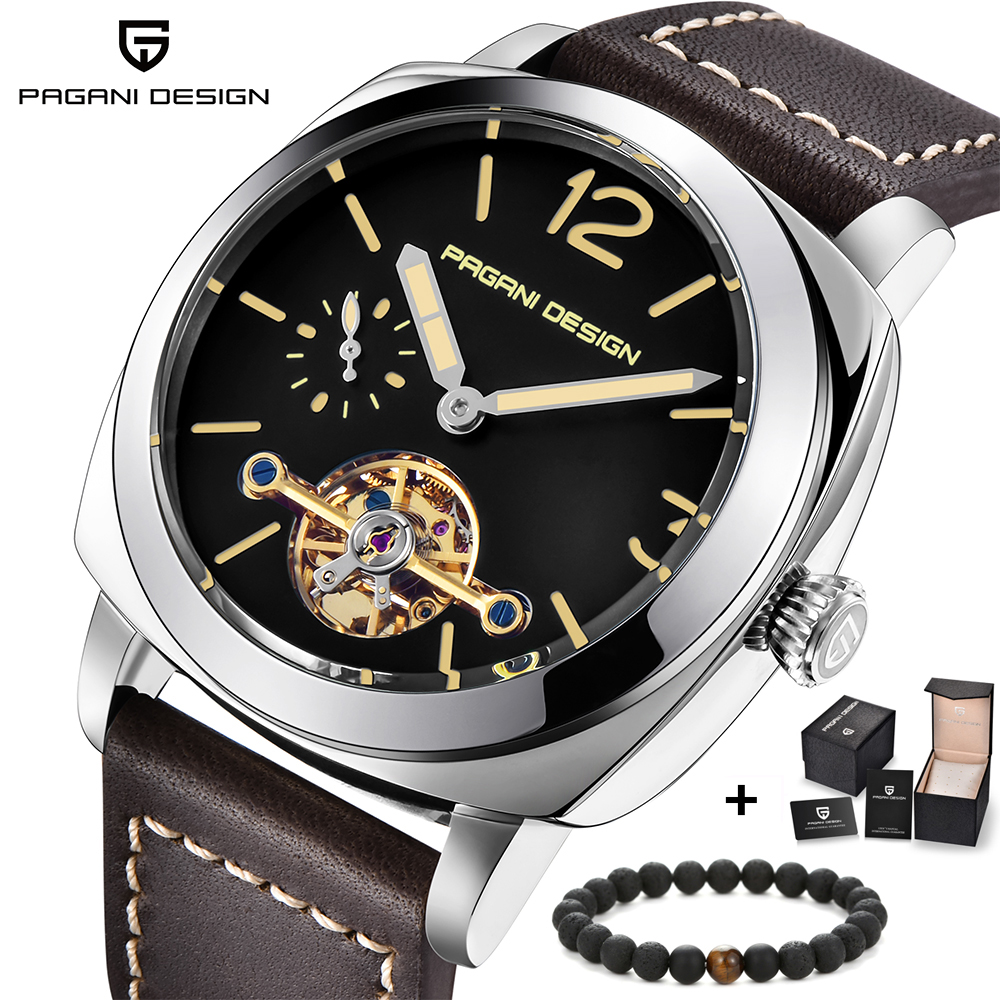 PAGANI DESIGN Business Casual Mechanical Mens Watches Luminous Leather Waterproof Automatic Watch relogio masculinoPAGANI DESIGN Business Casual Mechanical Mens Watches Luminous Leather Waterproof Automatic Watch relogio masculino