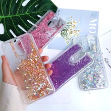 Glitter Case for LG K8 LV3 LV7 2018 Case Liquid quicksand Silicone Cover for Coque LG X Power 3 STYLO 4 Q Stylus Phone Case Capa(China)