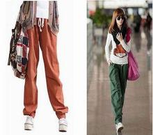 free shipping Casual pants overalls trousers harem pants bloomers loose 100% cotton lovers trousers