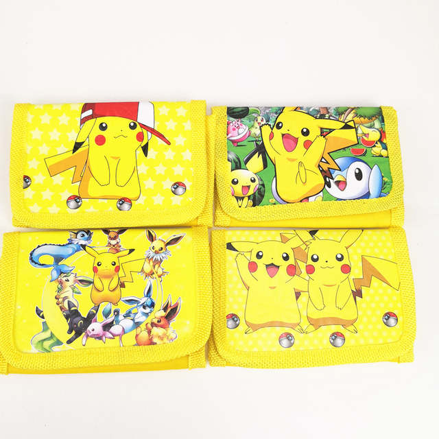1pc 11*8*18cm Pokemon Go Pikachu Money Bag Mini Coin Purse Wallet Christmas  Party Favors For Kids Boy Girl Birthday Decoration
