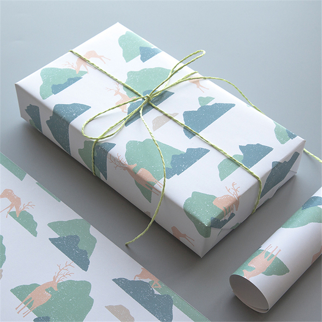 Birthday Present Elk Wrapping Gift Wrap Artware Packing Package