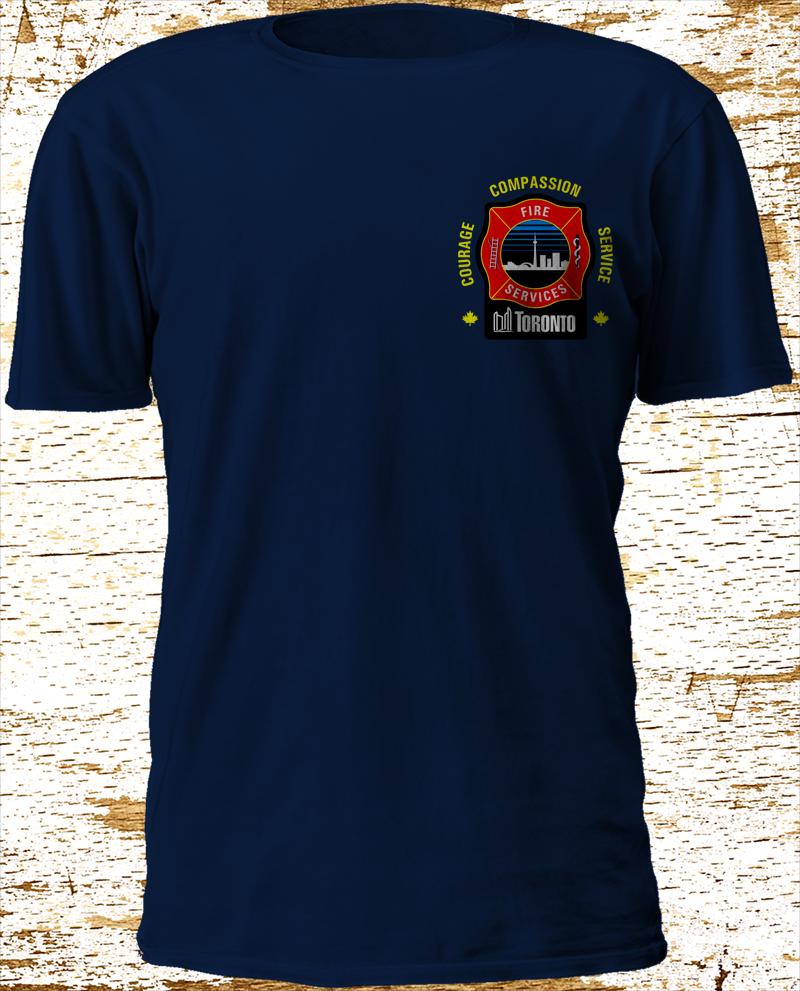 Toronto Fire Services Firefighter Canada T-shirt  3XL