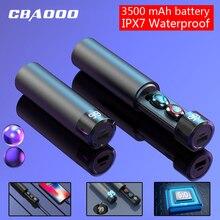 CBAOOO F7 TWS 5.0 Bluetooth Earphone 6D Stereo Wireless Earphones In-ear PX7 Waterproof Headset 3500mAh LED Smart Power Bank