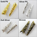 Free Shipping 50Pcs/lot Bugle Filigree Long End Bead Cap 9x35mm Gold Silver Bronze  Dull Silver Wholesale