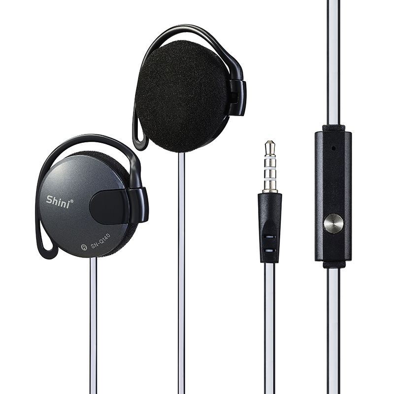 Shini Q140 Stereo Earphone Subwoofer Headphone Ear Hook Headset 3.5mm Untuk Telefon Bimbit Headset Factory Wholesale Harga