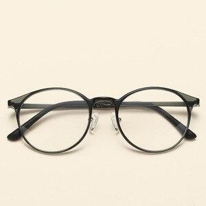 Image 3 - NOSSA جودة التنغستن Ultem إطارات النظارات الرجال والنساء إطارات النظارات البصرية المستديرة خمر خفيفة إطار نظارات شمسية غير رسمية