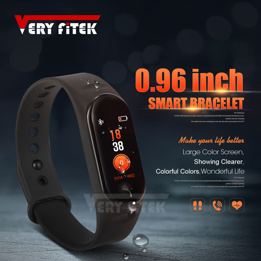 US $11 98 30% OFF|VERYFiTEK M3 Smart Band Blood Pressure Heart Rate Monitor  Wristband Fitness Tracker Smart Bracelet for Android iOS pk MiBand 3-in