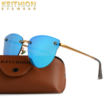 KEITHION Fashion Women Polarized Round Sunglasses Sersonality Color Film Large Frame Retouch Face ladies